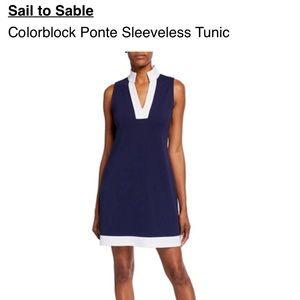 SAIL TO SABLE COLOR BLOCK PONTE TUNIC